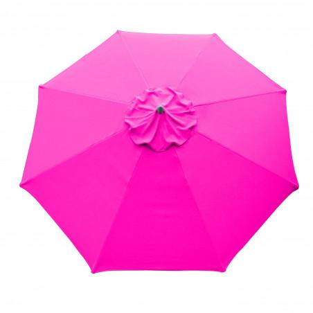Parasol Lacanau Rose Fushia 300 cm Alu Manivelle