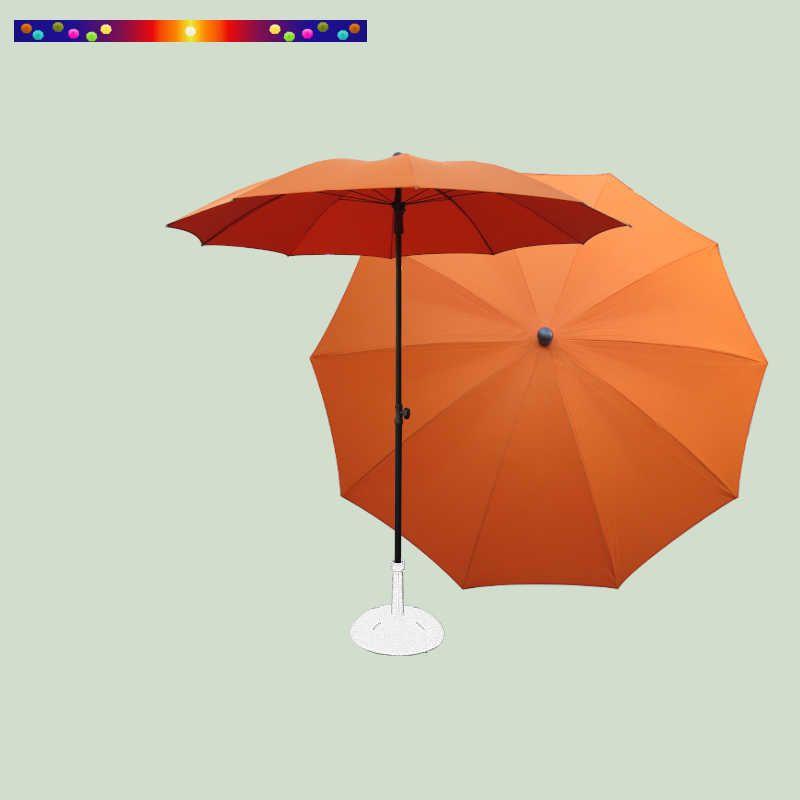 Parasol Orange Mandarine 200 cm design italien ombrelle : vu de face et de dessus