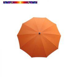 Parasol Orange Mandarine 200 cm design italien ombrelle : vu de face