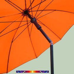 Parasol Orange Mandarine 200 cm design italien Ombrelle : inclinaison et poignée ergonomique