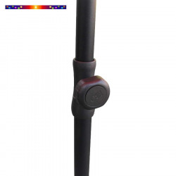 Parasol Ecru 200 cm design italien Ombrelle : règlage de la hauteur du mât