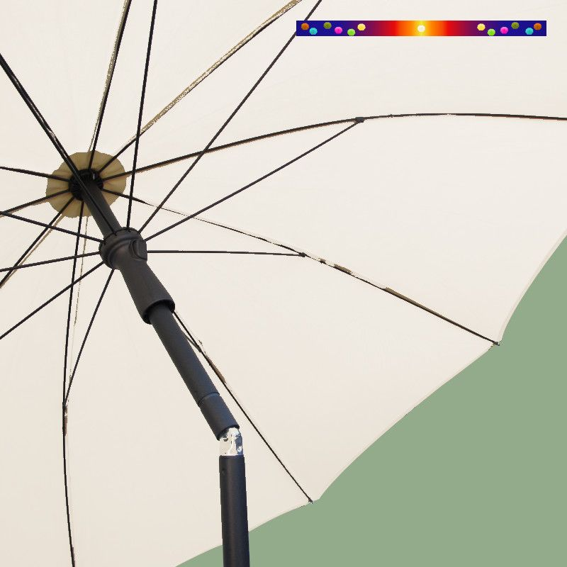 Parasol Ecru 200 cm design italien Ombrelle