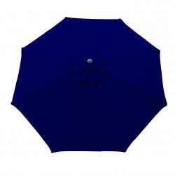 Parasol Lacanau rond (octogonal) Diamètre 300 cm en Aluminium à manœuvre par manivelle toile Bleu Marine : parasol vu de dessus
