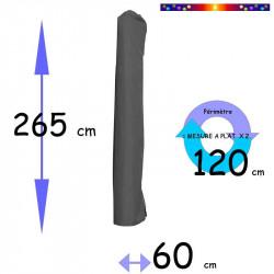 Housse de protection pour parasol  265 cm x 60 cm