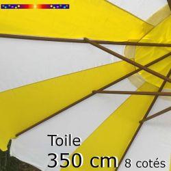 Toile OCTOGONALE (8cotés) 350cm Rayon Jaune (mât central)