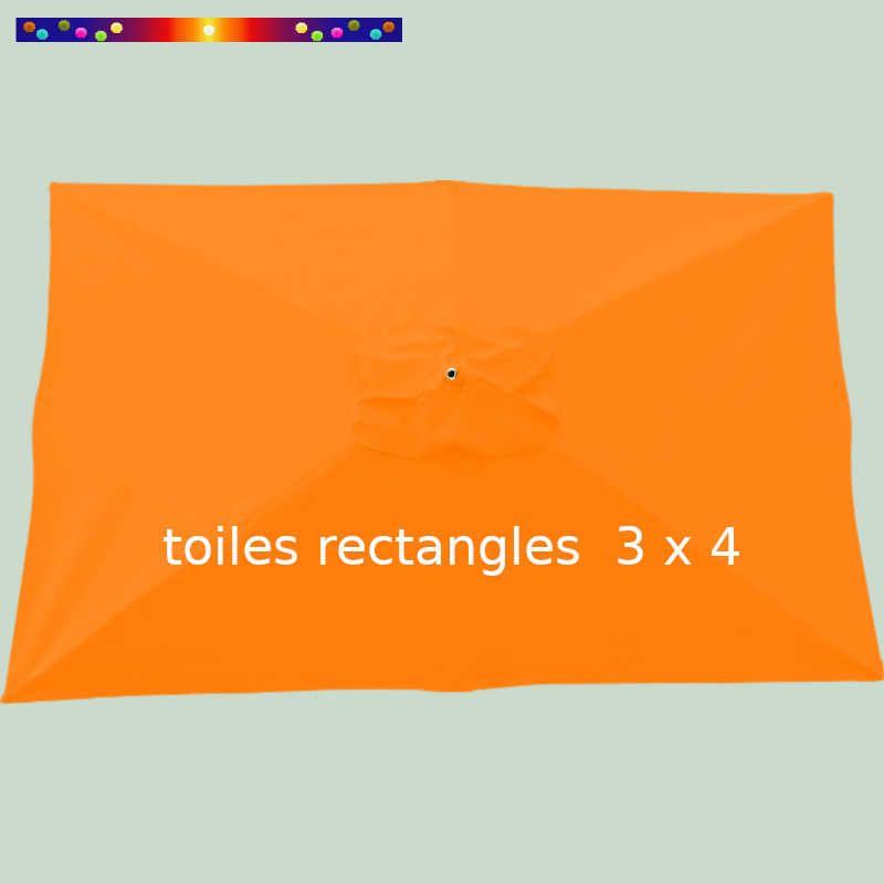 Toile Orange pour parasol 3x4 rectangle