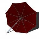 Parasol Lacanau rond (octogonal) Diamètre 300 cm en Aluminium à manœuvre manivelle toile Rouge Bordeaux : parasol vu de dessous