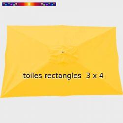 Toile Jaune pour parasol 3x4 rectangle