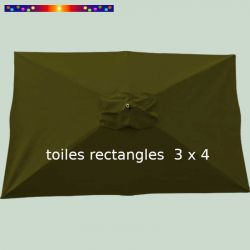 Toile Olive pour parasol 3x4 rectangle