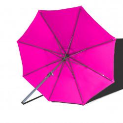 Parasol Lacanau rond (octogonal) Diamètre 300 cm en Aluminium à manœuvre par manivelle toile Rose Fushia : parasol vu de dessous