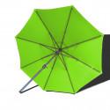 Parasol Lacanau rond (octogonal) Diamètre 300 cm en Aluminium à manœuvre par manivelle toile Vert Lime : parasol vu de dessous