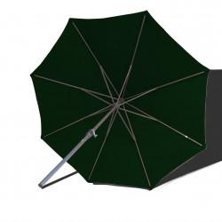 Parasol Lacanau rond (octogonal) Diamètre 300 cm en Aluminium à manœuvre par manivelle toile Vert Pinède : parasol vu de dessous