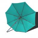 Parasol Lacanau rond (octogonal) Diamètre 300 cm en Aluminium à manœuvre manivelle toile Bleu Turquoise : parasol vu de dessous