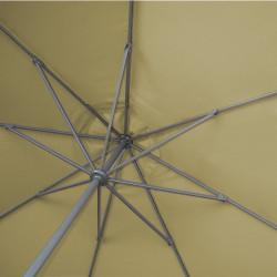 Parasol Lacanau rond (octogonal) Diamètre 300 cm en Aluminium à manœuvre par manivelle toile Sable Greige : détail de l'armature