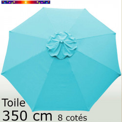 Toile octogonale 350 cm en second choix : couleur Truquoise