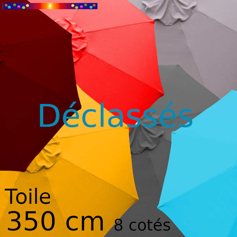 Toile octogonale 350 cm en second choix : toutes les couleurs