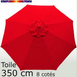Toile octogonale 350 cm en second choix : couleur Rouge