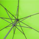 Parasol Lacanau rond (octogonal) Diamètre 300 cm en Aluminium à manœuvre manivelle toile couleur Vert Lime: détail de l'armature