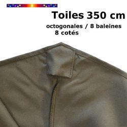 Toile de remplacement pour parasol diamètre 350 cm couleur Taupe