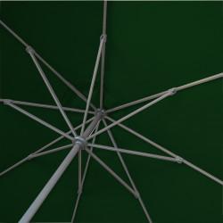 Parasol Lacanau rond (octogonal) Diamètre 300 cm en Aluminium manœuvre manivelle toile couleur Vert Pinède: détail de l'armature