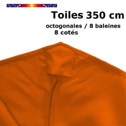 toile de remplacement pour parasol diamètre 350 cm couleur orange capucine