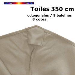 Toile OCTOGONALE (8cotés) 350cm Soie Grège (mât central)