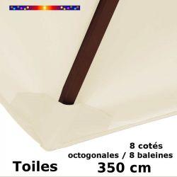 toile de remplacement pour parasol diametre 350 cm couleur blanc ecru
