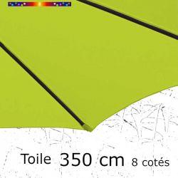 Toile de remplacement pour parasol diamètre 350 cm couleur Vert Lime