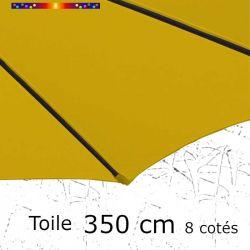 Toile OCTOGONALE (8cotés) 350cm Jaune Moutarde (mât central) : toile coté baleine