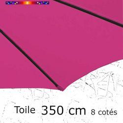 Toile OCTOGONALE (8cotés) 350cm Rose Fushia (mât central) : toile coté baleine