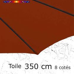 Toile de remplacement pour parasol diamètre 350 cm couleur Rouge Terracotta