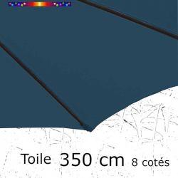 Toile OCTOGONALE (8cotés) 350cm Bleu Océan (mât central)