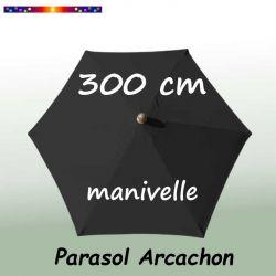 Parasol Arcachon Gris Anthracite 300 cm Alu Manivelle : vu de dessus