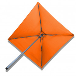 Parasol Lacanau Orange 200 x 200 Alu : vu de dessous