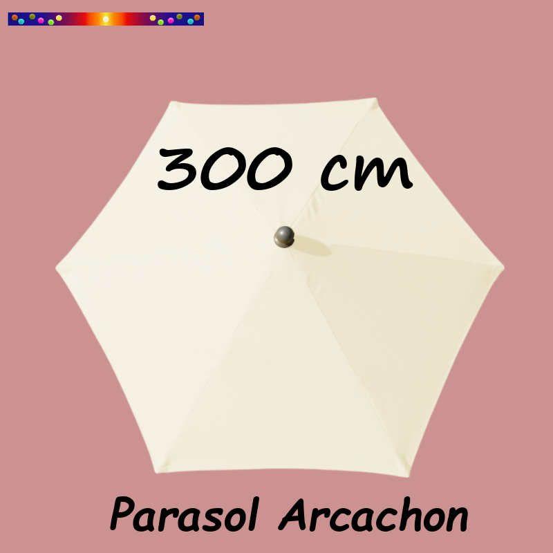 Parasol Arcachon Blanc Ecru 300 cm Alu : vu de dessus