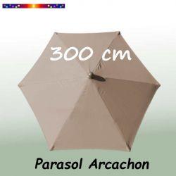 Parasol Arcachon Taupe 300 cm Alu : vu de dessus