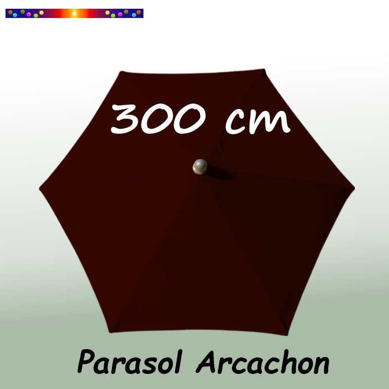 Parasol Arcachon Mocca 300 cm Alu : vu de dessus