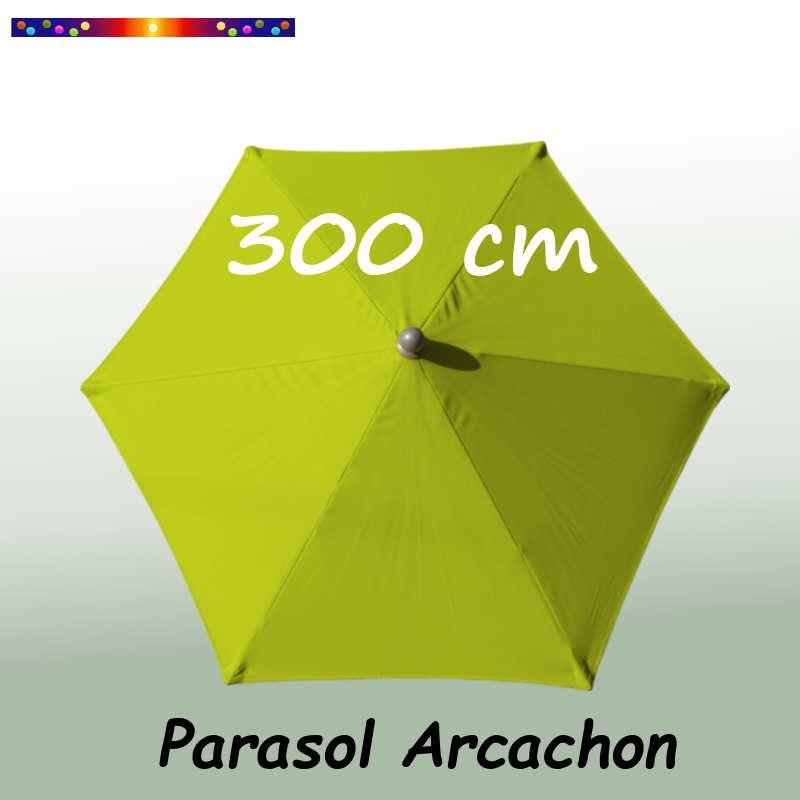 Parasol Arcachon Vert Limone 300 cm : vu de dessus