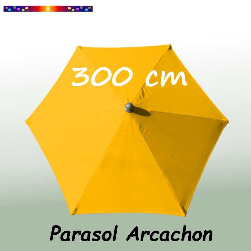 Parasol Arcachon Jaune d'Or 300 cm Alu : vu de dessus