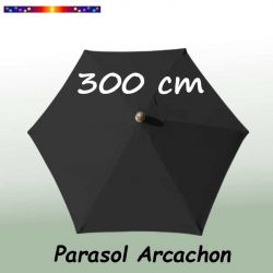 Parasol Arcachon Gris Anthracite 300 cm Alu : vu de dessus