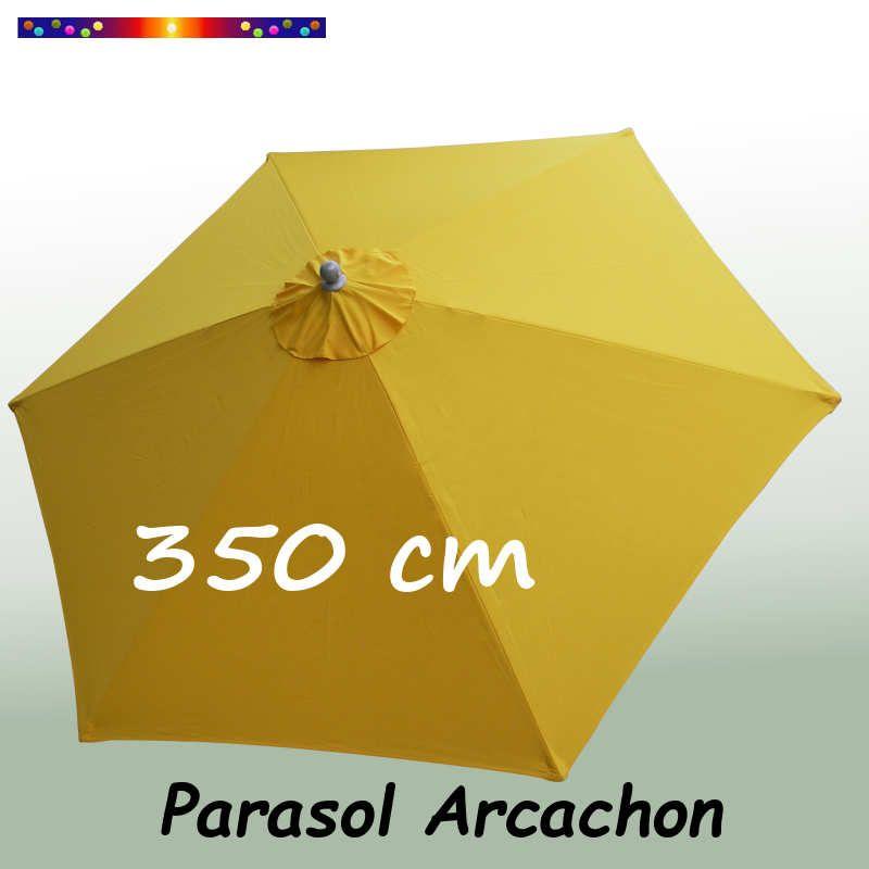 Parasol Arcachon Jaune d'Or 365 cm Alu : vu de dessus