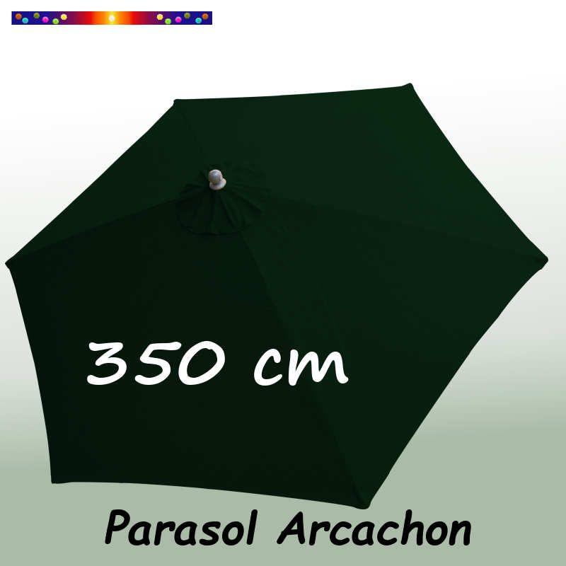 Parasol Arcachon Vert Pinède 350 cm : vu de dessus