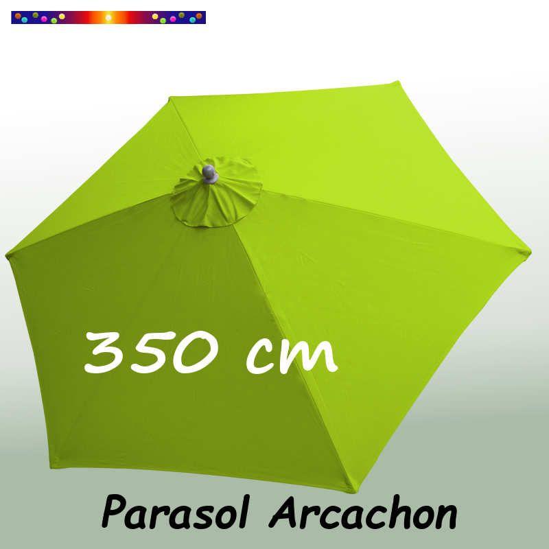 Parasol Arcachon Vert Limone 365 cm : vu de dessus