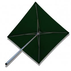 Parasol Lacanau Vert Pinède  2 x 2 Alu : vu de dessous