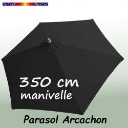 Parasol Arcachon Gris Anthracite 350 cm Alu Manivelle : vu de dessus