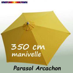 Parasol Arcachon Jaune d'Or 350 cm Alu Manivelle : vu de dessus