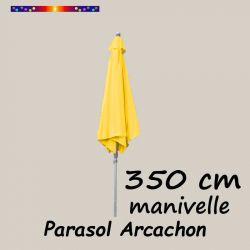 Parasol Arcachon Jaune d'Or 350 cm Alu Manivelle : en position fermé