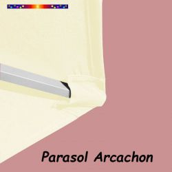 Parasol Arcachon Ecru 350 cm Alu Manivelle
