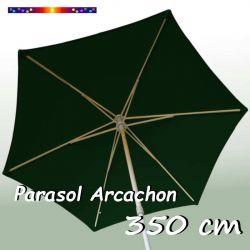 Parasol Arcachon Vert Pinède 350 cm : vu de dessous