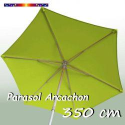 Parasol Arcachon Vert Limone 350 cm : vu de dessous